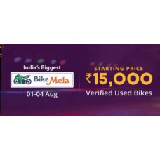 Droom Offers and Deals Online - Bike Mela Verified Used Bikes Starting at Rs.15000