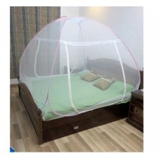 Pepperfry Offers and Deals Online - Healthgenie Double Bed Foldable Pink Nylon Mosquito Net