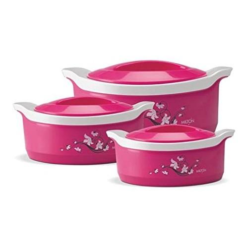 Milton marvel pack of 3 casserole set kitchen applainces for Kitchen set offers