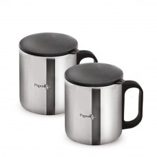 Deals, Discounts & Offers on Home Appliances - Pigeon Stainless Steel Double Coffee Mug