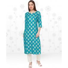 Flipkart Offers and Deals Online - Anmi Printed Women's Straight Kurta  (Blue)