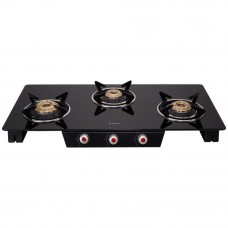 Deals, Discounts & Offers on Kitchen Applainces - Elica Glass 3 Burner Gas Stove (SPACE ICT 773 BLK)
