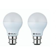 Bajaj Base B22 9-Watt Led Bulb (Pack Of 2, Cool Day Light)