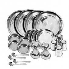 ShopClues Offers and Deals Online - Royal Sapphire Stainless Steel Dinner Set 24 Set
