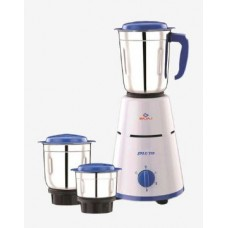 Pepperfry Offers and Deals Online - Bajaj Pluto 500 Watt 3 Jar Mixer Grinder (White & Blue)