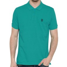 Deals, Discounts & Offers on Men Clothing - BROWN SUGAR Solid Men Polo Neck Green T-Shirt