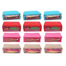 Amazon Offers and Deals Online - Kuber Industries™ Non Woven Saree Cover 12 Pcs combo