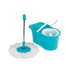 Pepperfry Offers and Deals Online - Gala Aqua Blue & White Spin Mop