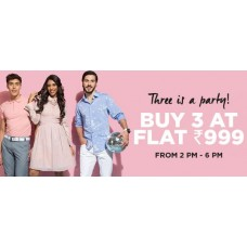 Deals, Discounts & Offers on Men & Women Fashion - Buy 3 at Flat Rs.999