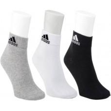 Deals, Discounts & Offers on Men - Adidas Men's Self Design Ankle Length Socks - Pack of 3