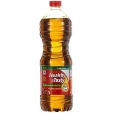 Deals, Discounts & Offers on Grocery & Gourmet Foods - Emami Healthy and Tasty Kachi Ghani Mustard Oil Bottle, 1L at Rs. 99