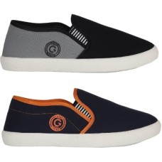 Deals, Discounts & Offers on Men - [Size: 6, 7] Globalite Casual Loafer Combo Pack For Men (Grey, Navy)