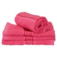 Deals, Discounts & Offers on Men Clothing - Bianca D`Ross Bordered 4 Piece 380 GSM Cotton Face Towel Set - Pink