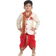 Deals, Discounts & Offers on Kid's Clothing - STYLOKIDS Boys Festive & Party Kurta, Dhoti Pant & Dupatta Set