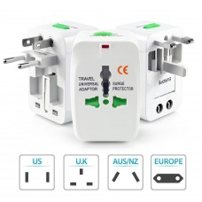 Deals, Discounts & Offers on Electronics - US1984 3 pin Travel Universal Multi Plug With Indicator US, AUS , NZ , Europe,UK , SP