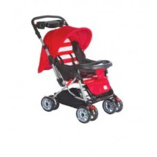 Deals, Discounts & Offers on Baby Care - Mee Mee Comfortable Pram with 3 seating position (Red)