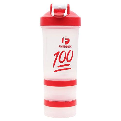 Fashnex Shaker Bottle ProStak 500 ML Protein Shaker Cup with Twist