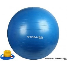 Deals, Discounts & Offers on  - Strauss Anti Burst Gym Ball with Foot Pump