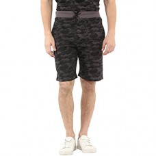 Deals, Discounts & Offers on  - Urbano Fashion Men's Camouflage/Military Printed Grey Cotton Shorts