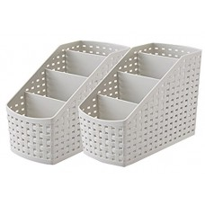 Deals, Discounts & Offers on Home & Kitchen -  Kuber Industries 4 Sections Plastic Storage Basket Set, 2-Pieces, Multicolor