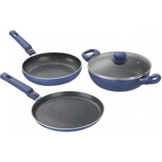 Deals, Discounts & Offers on Cookware - Prestige Omega Festival Pack Induction Bottom Cookware Set(Aluminium, 3 - Piece)