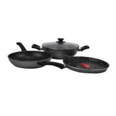 Deals, Discounts & Offers on Cookware - Pigeon Essentials Induction Bottom Cookware Set(Aluminium, 3 - Piece)