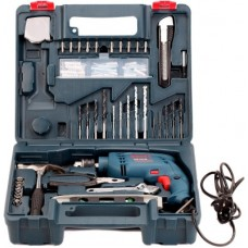 Deals, Discounts & Offers on Gardening Tools - Bosch GSB 500 RE Power & Hand Tool Kit(92 Tools)