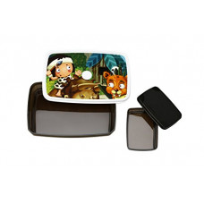 Deals, Discounts & Offers on Home & Kitchen - Signoraware Little Stars Easy Plastic Lunch Box Set, 2-Pieces, Dark Cocoa