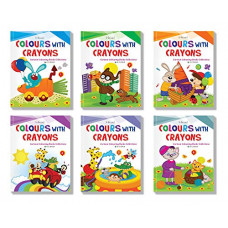Deals, Discounts & Offers on  - Cartoon Colouring Book Set of 5 : Pack of 5 Creative Crayon Copy Coloring Books