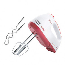 Deals, Discounts & Offers on Home & Kitchen - Inalsa Hand Mixer Easy Mix-200W with 7 Speed Control & Detachable Stainless-Steel Finish Beater & Whisker| In-Built Eject Knob & Slim Grip,(Red/White)