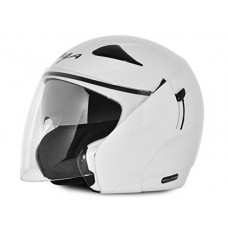Deals, Discounts & Offers on  - Vega Eclipse ECL-W-M Open Face Helmet with Double Visor (White, M)