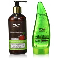 Deals, Discounts & Offers on Personal Care Appliances -  Wow Apple Cider Vinegar Shampoo, 300ml with 99% Pure Aloe Vera Gel, 130ml