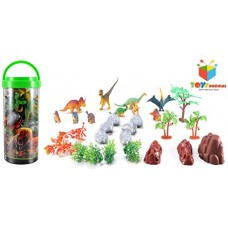 Deals, Discounts & Offers on  -  Toys Bhoomi Adventure Planet Dinosaur Set with Carrying Case