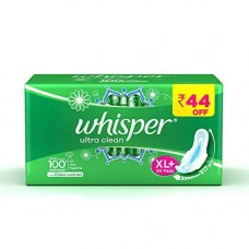 Deals, Discounts & Offers on Personal Care Appliances - Whisper Ultra Clean Sanitary Pads - 30 Pieces (XL Plus)