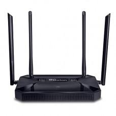 Deals, Discounts & Offers on  - iBall Baton Gigabit iB-WRD12GN 1200M Mesh Gigabit Dual Band Wireless AC Router, Black