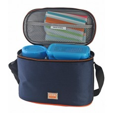 Deals, Discounts & Offers on Home & Kitchen - All Time Plastic Lunch Box with Bag Set, 4-Pieces, Blue (ALLTME_406464-18_BLE)