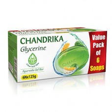 Deals, Discounts & Offers on Personal Care Appliances - Chandrika Glycerine Soap Pack of 6, 125g each at Rs.241