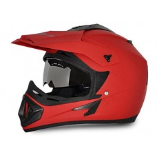 Deals, Discounts & Offers on  - Vega Off Road OR-D/V-DR_M Full Face Motocross Helmet (Dull Red, M)