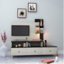 Deals, Discounts & Offers on Furniture - HomeTown Lauren Engineered Wood TV Entertainment Unit(Finish Color - White)