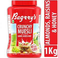 Deals, Discounts & Offers on Grocery & Gourmet Foods - Bagrry's Crunchy Muesli Oat Clusters with Almonds, Raisins & Honey, 1000 GM