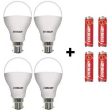 Deals, Discounts & Offers on  - Eveready 10 W Round B22 LED Bulb(White, Pack of 4)