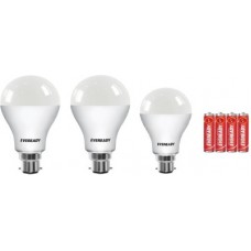 Deals, Discounts & Offers on  - Eveready 151510 W Round B22 LED Bulb(White, Pack of 3)