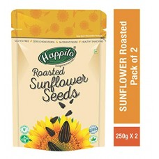 Deals, Discounts & Offers on Grocery & Gourmet Foods - HappiloPremium Roasted & Salted Sunflower Seeds (No Shells) 250g ( Pack of 2 )