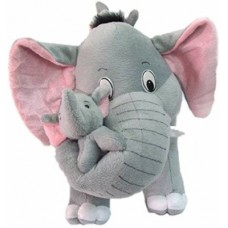 Deals, Discounts & Offers on Toys & Games - TeddyToy Soft Mother Elephant With 2 Cute Baby - 42 cm(Multicolor)