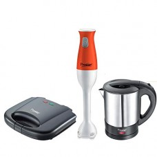 Deals, Discounts & Offers on Home & Kitchen - Prestige Breakfast Set PBS 01 - Electric Kettle, Sandwich Toaster and Hand Blender