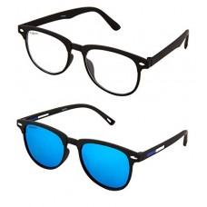 Deals, Discounts & Offers on  - ADDON EYE WEAR Combo Mirrored Flat Unisex Sunglasses - (NV 101)