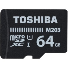 Deals, Discounts & Offers on Storage - Toshiba M203 64 GB MicroSD Card Class 10 100 MB/s Memory Card