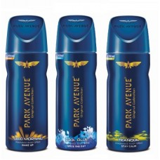 Deals, Discounts & Offers on  - Park Avenue Body - Good Morning, Cool Blue and Tranquil Deodorant Spray - For Men(450 ml, Pack of 3)