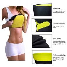 Deals, Discounts & Offers on  - Dtex Sweat Waist Belt | Belly Tummy Yoga Wrap Black Exercise Body Slim Look Belt -115 cm