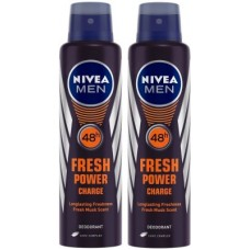 Deals, Discounts & Offers on  - Nivea Men Fresh Power Charge Deodorant Deodorant Spray - For Men(300 ml, Pack of 2)